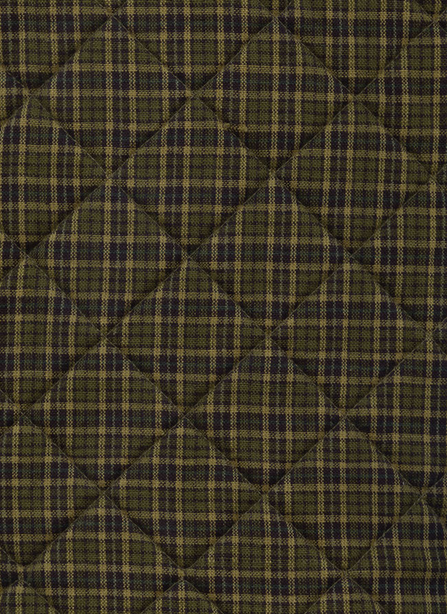 Tea Cabin Plaid Fabric (this sample is quilted)