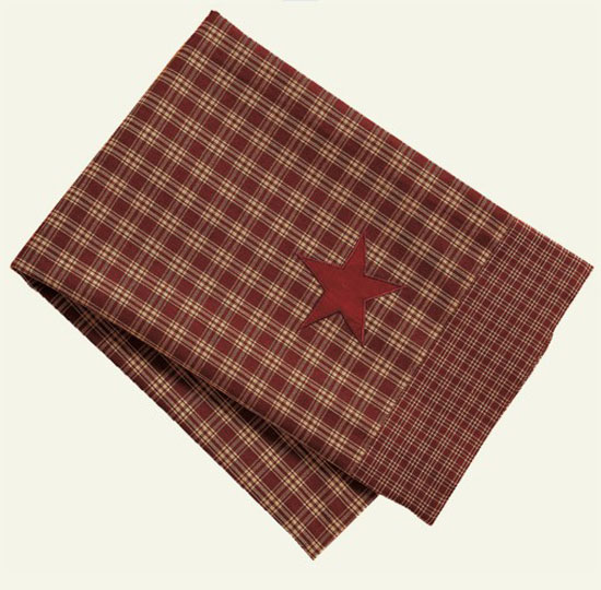 Applique Star Burgundy Dish Towel