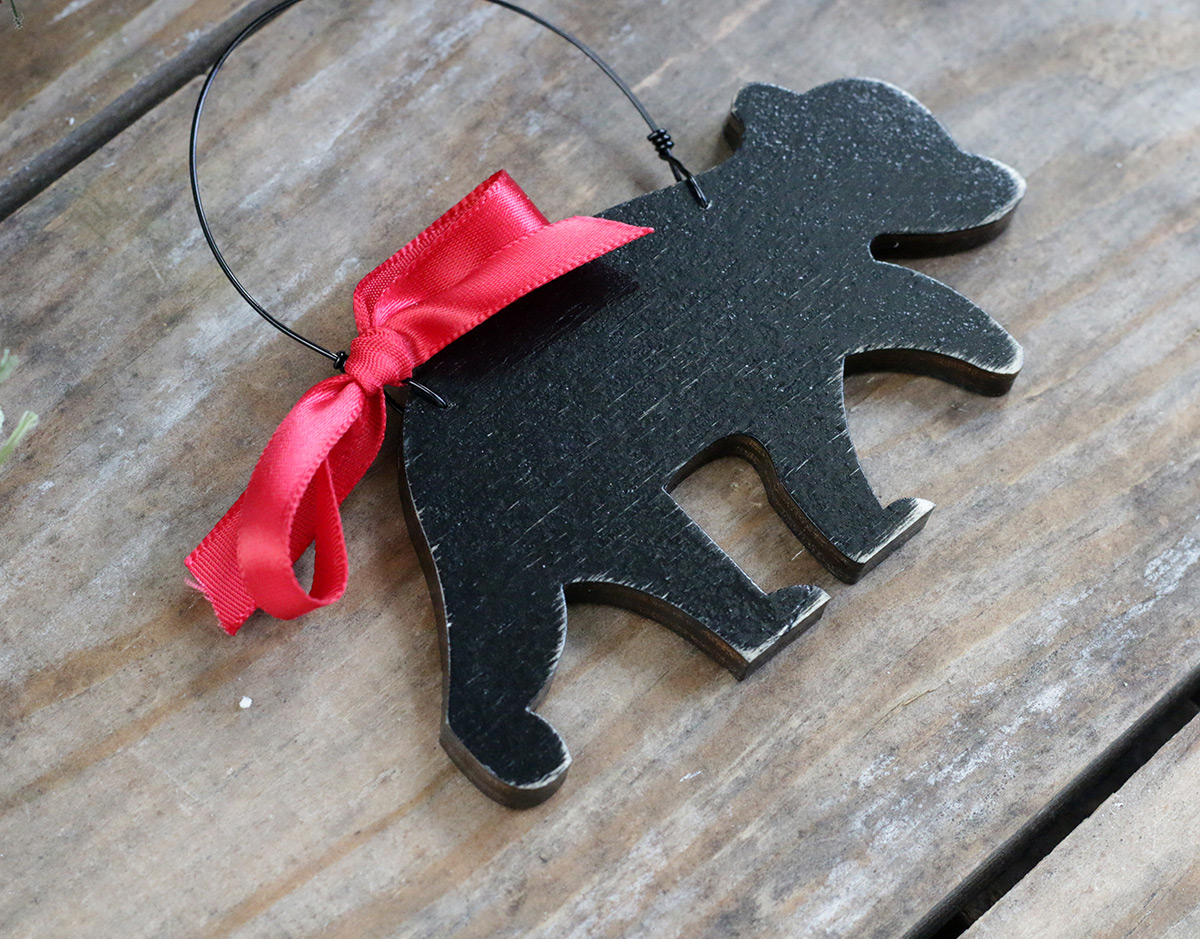 Back of Baby Bear Ornament