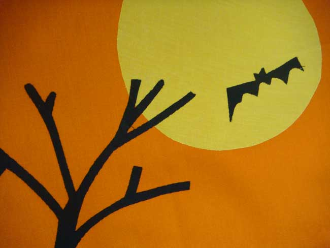 Halloween Night Vintage Dishtowel, by Tag