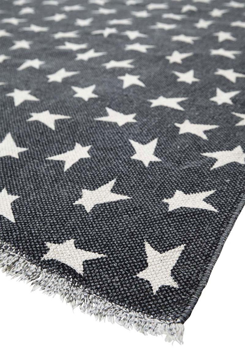 Primitive Black Star Rug, by Nancy's Nook