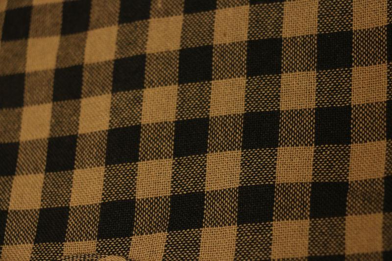 Black Check Fabric Detail