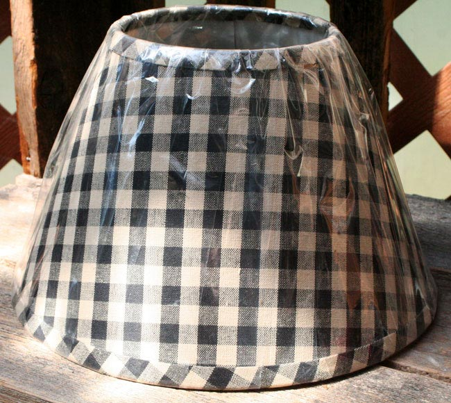 Heritage house check lampshades by raghu