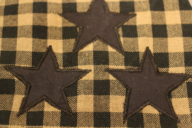 Checked Fabric Detail   Black And Tan