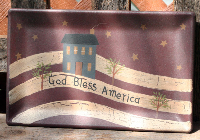 God Bless America Tray, by The Hearthside Collection