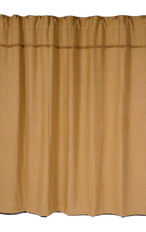 Deluxe Burlap Shower Curtain By Olivias Heartland