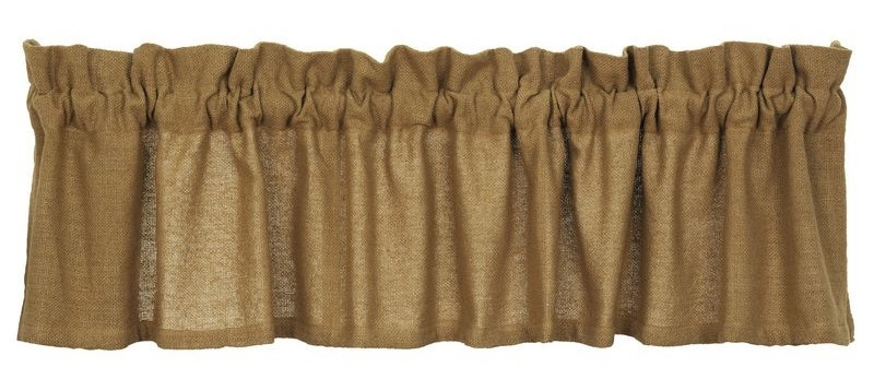 Deluxe Burlap Valance, by Olivia's Heartland