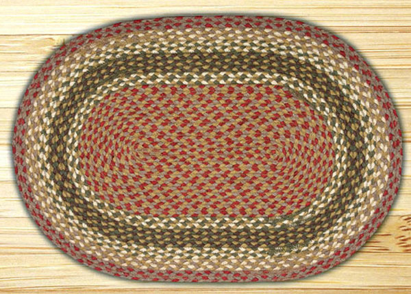 20 X 30 Inch Olive Burgundy Amp Grey Oval Jute Rug By