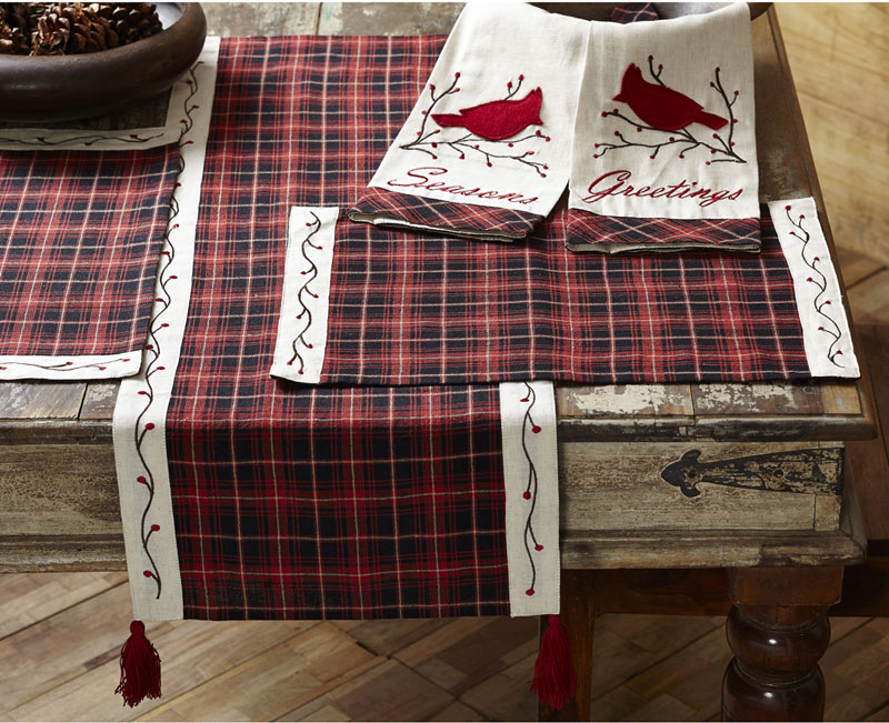 Season's Greetings Table Linens, by Nancy's Nook