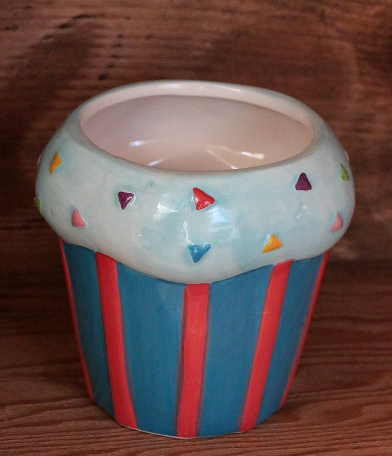 Cupcake Canisters For Kitchen: Blue Cupcake Canister, By TII.