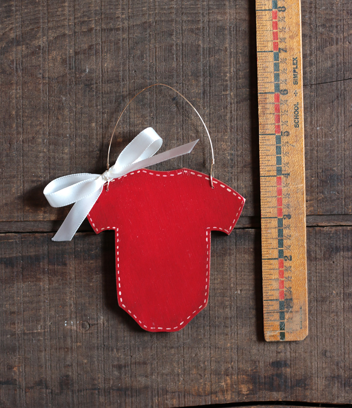 Red Baby Bodysuit Personalized Ornament