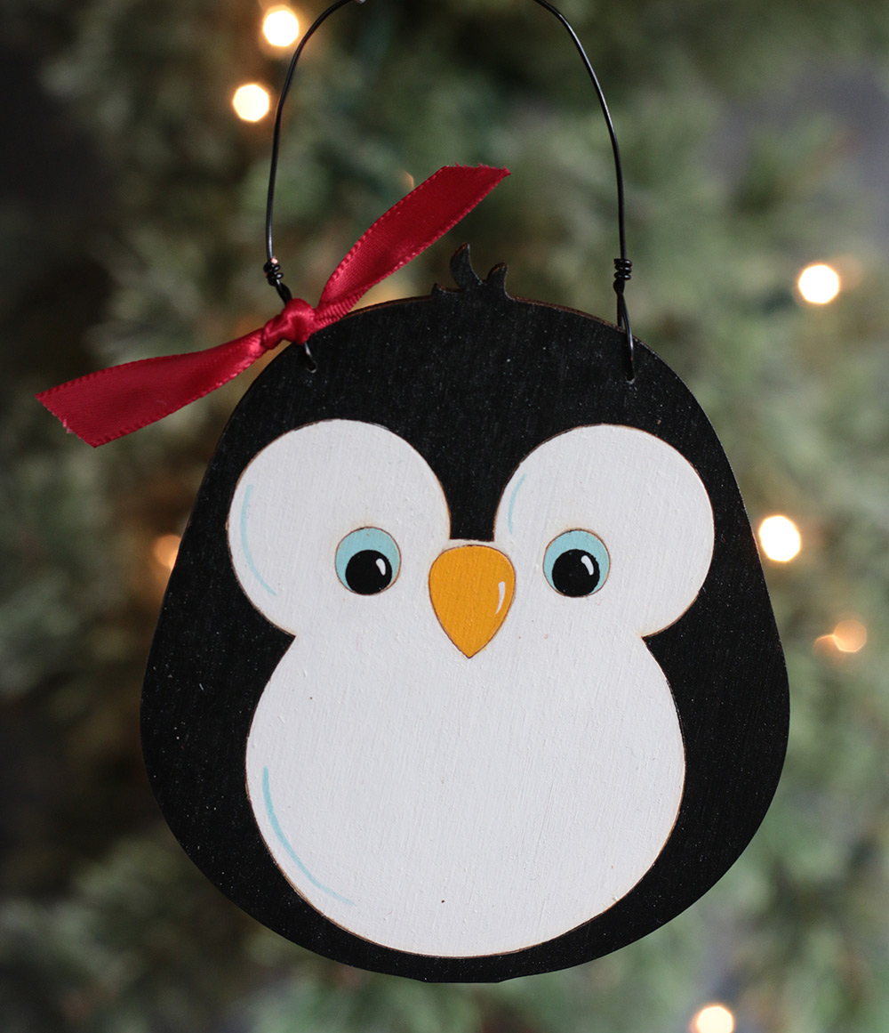 Penguin Personalized Ornament - The Weed Patch