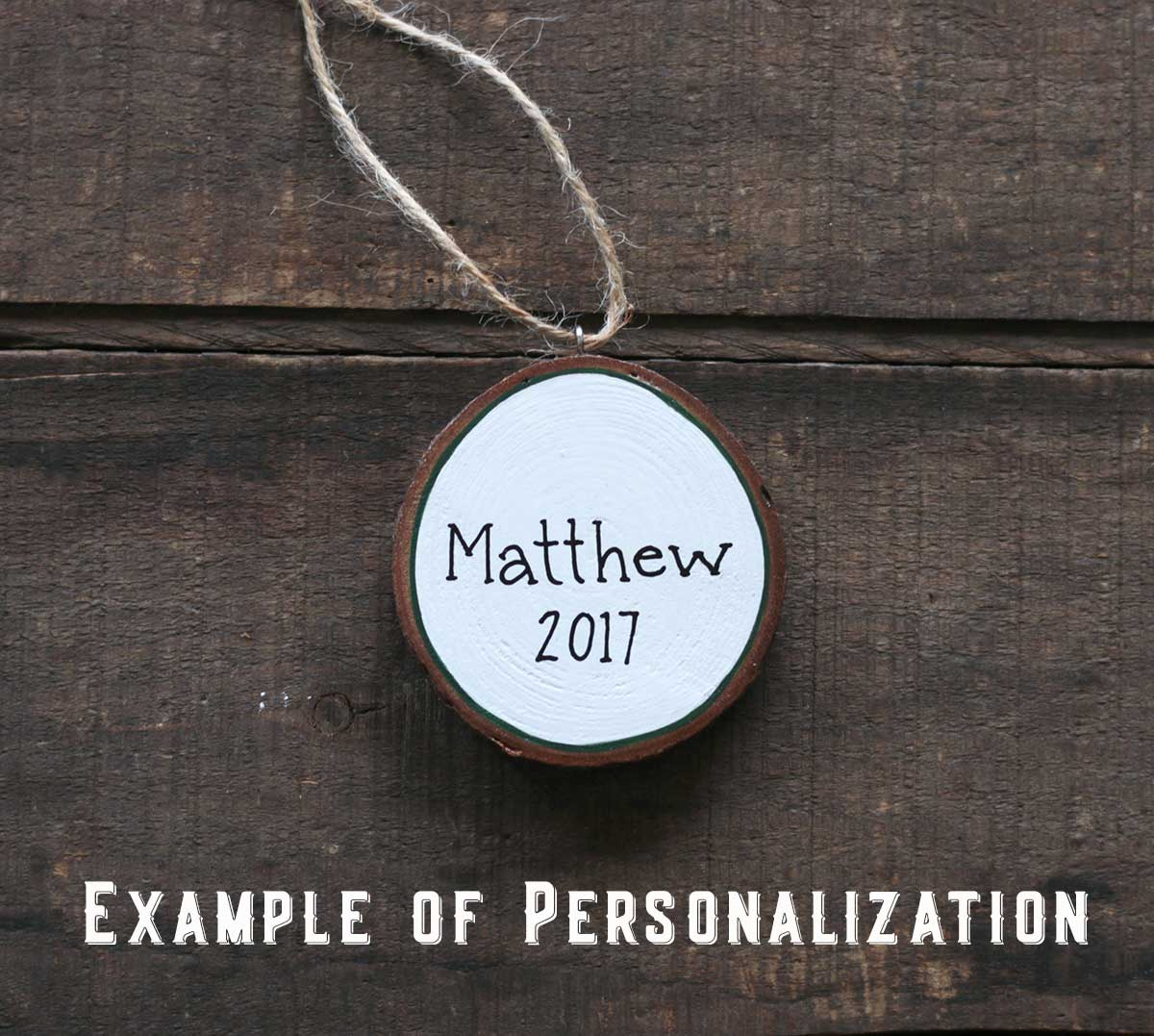 Example of Personalization