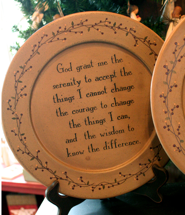 Serentiy Prayer Plate, by Barbara Lloyd of The Hearthside Collection
