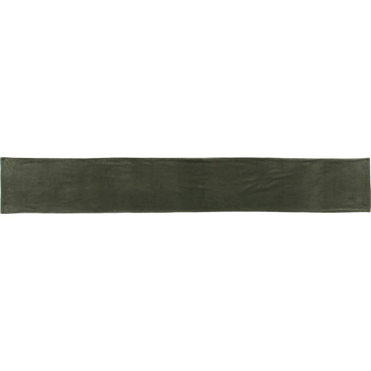 Green Velvet 90 inch Table Runner, by VHC Brands.