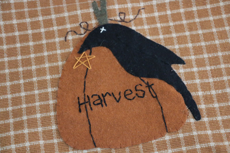 Crow and Harvest Pumpkin Table Runner, by Raghu.