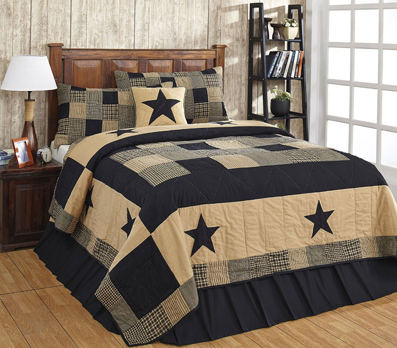 Jamestown Black & Tan Quilt Set, by Olivia's Heartland