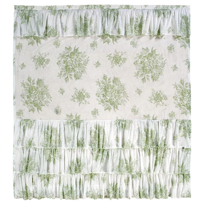 josephine sage green shower curtain by nancy s nook