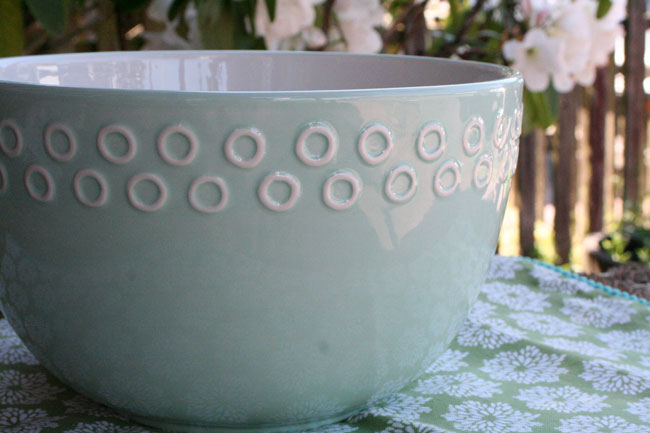 Large Aqua Mixing / Serving Bowl
