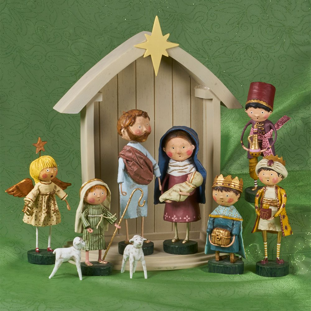 Lori Mitchell Nativity Figurines