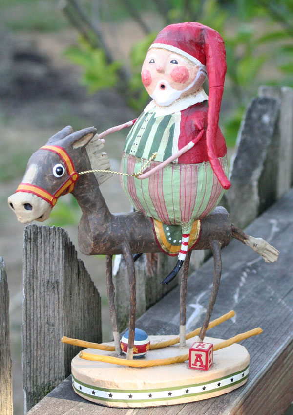 Muletide Santa, by Lori Mitchell