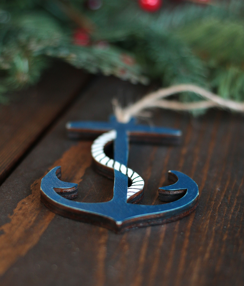 Anchor ornaments -  Anchor Ornament Handmade By Our Backyard Studio