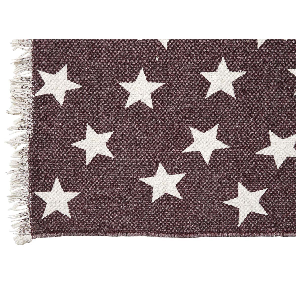Antique Red Star 20 X 30 Inch Rug