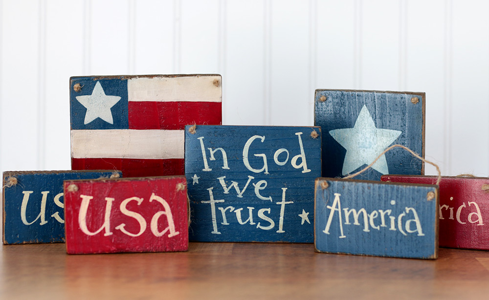 In God We Trust Small Wooden Sign By Our Backyard Studio