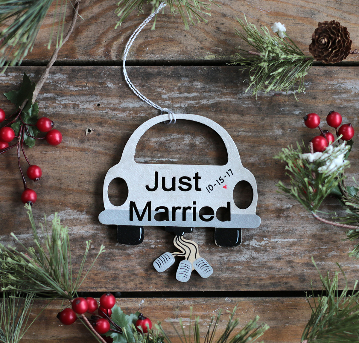 Just Married Car Ornament - The Weed Patch