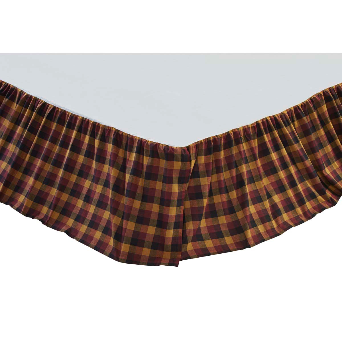 Primitive Check Bed Skirt, by VHC Brands.