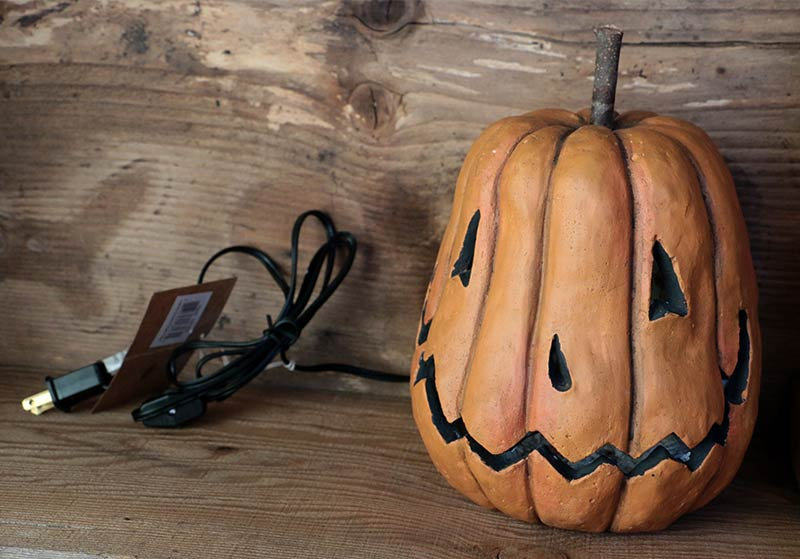 lighted grinning pumpkin head by primitives by kathy - Primitives By Kathy Halloween