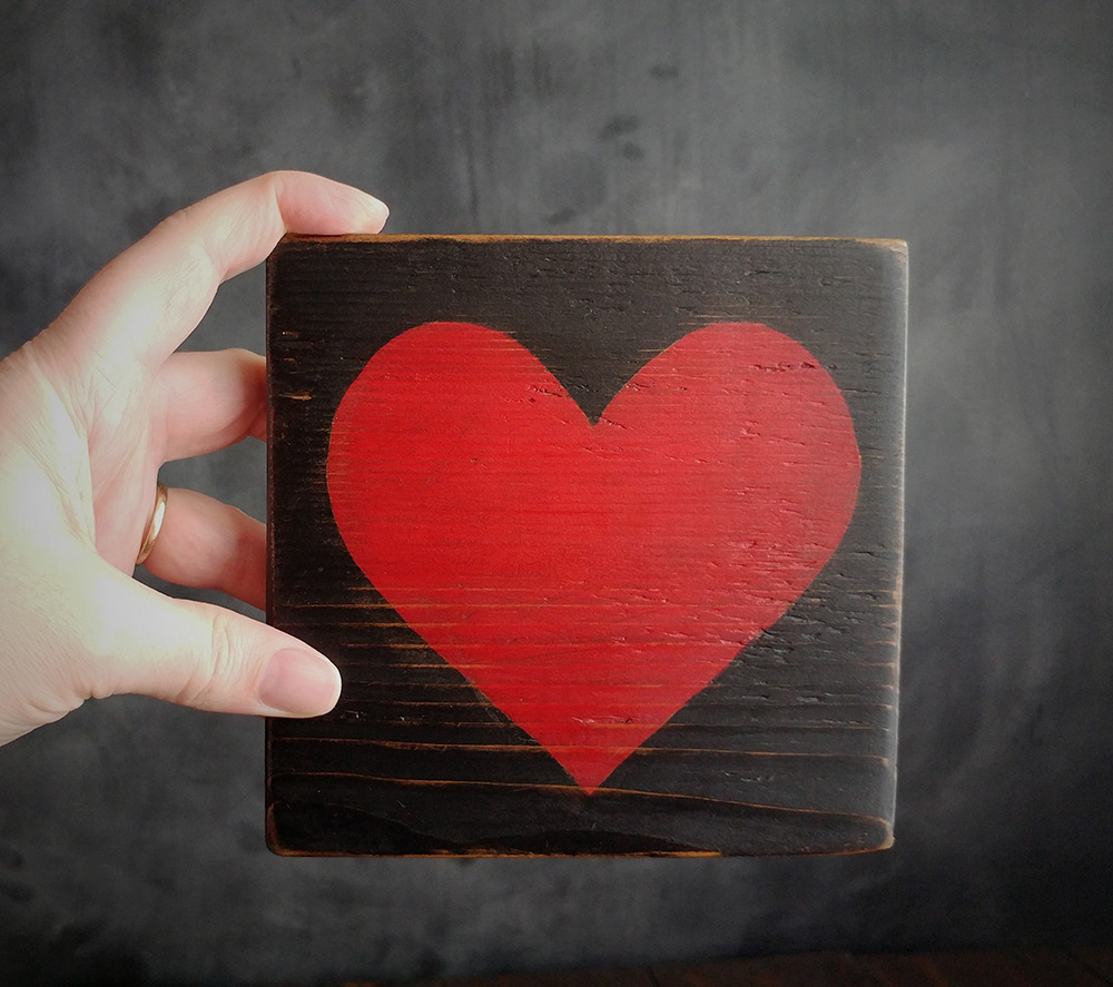 Rustic Heart Wood Sign Hand Made To Order In Washington