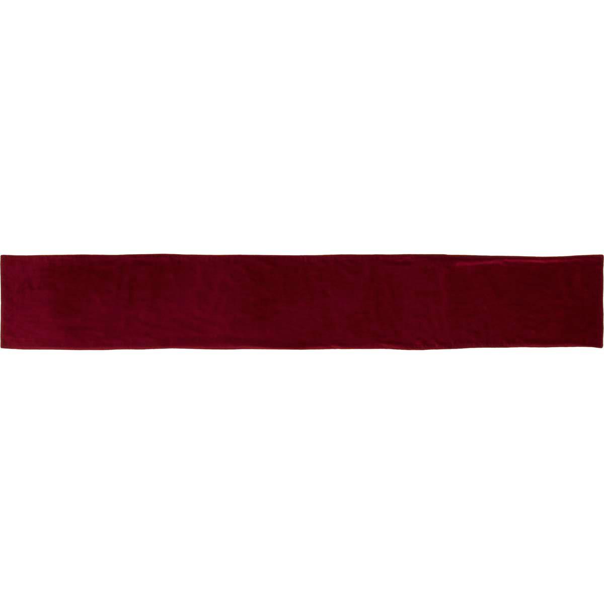 Red Velvet 90 Inch Table Runner, By VHC Brands.