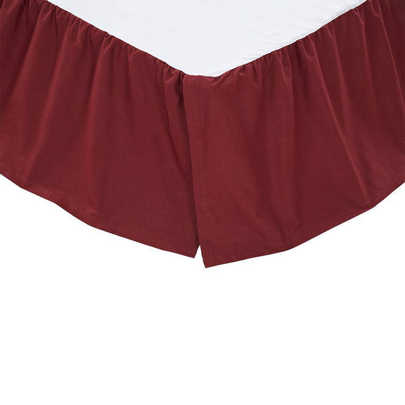 Solid Burgundy Bed Skirt, by Olivia's Heartland