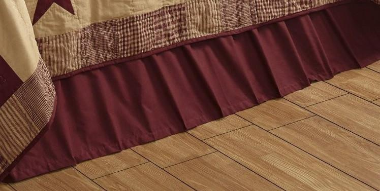 Queen Solid Burgundy Bed Skirt By Olivia S Heartland