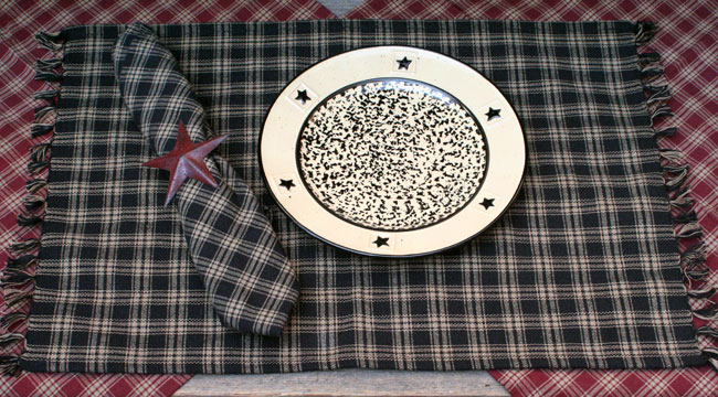 Black Sturbridge Placemat, by Park Designs