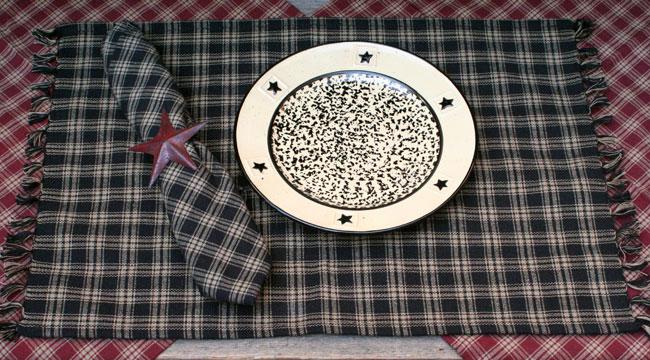 Black Sturbridge Placemat, by Park Designs