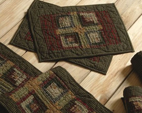 Tea Cabin Quilted Placemats, by Victorian Heart