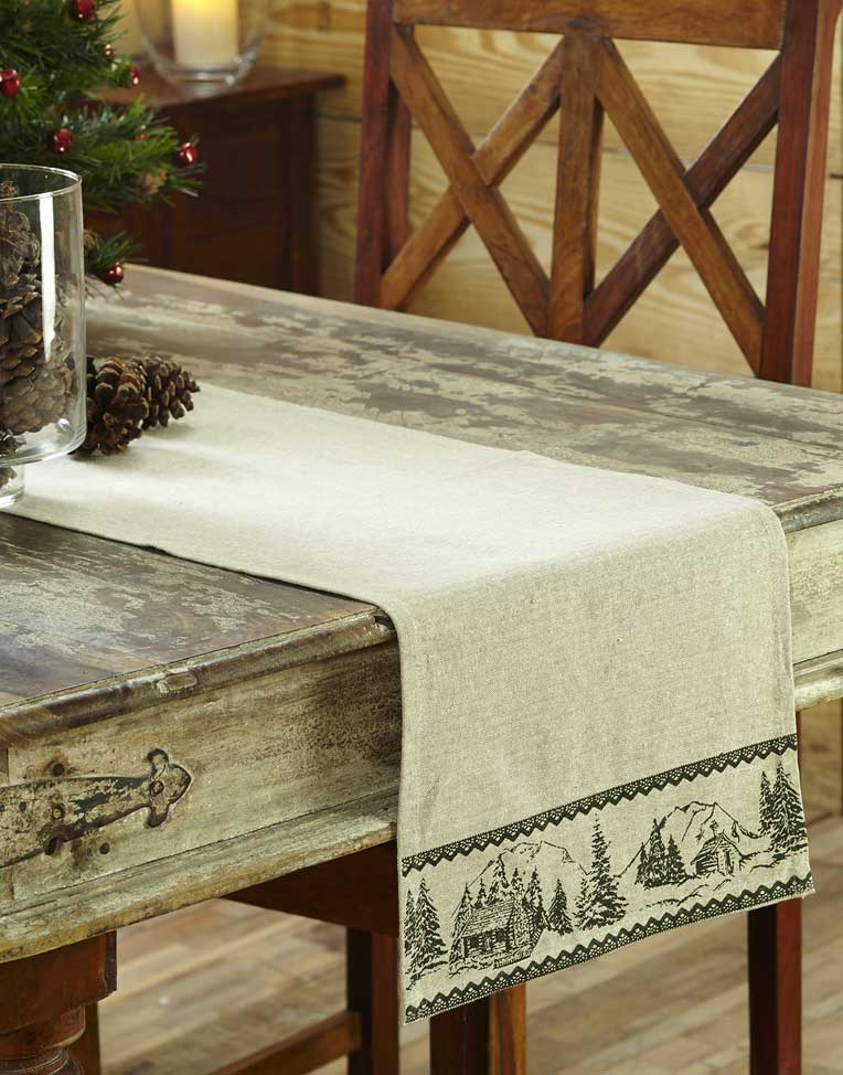 Timberland Christmas Tablerunner, by Nancy's Nook