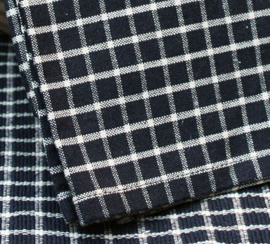 Williamsburg Check Dishtowel - Black