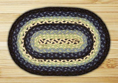 Blueberry & Creme Braided Jute Tablemat
