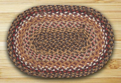 Brick, Clay, Ivory Braided Tablemat (10 x 15 inch)