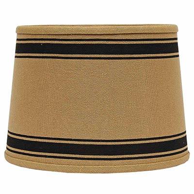 Bella Trace Black Stripe Lamp Shade - 10 inch Drum