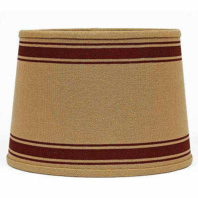 10 inch bella trace red stripe lamp shade by raghu the. Black Bedroom Furniture Sets. Home Design Ideas