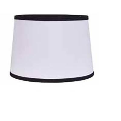 10 inch white drum lamp shade with black trim by raghu. Black Bedroom Furniture Sets. Home Design Ideas