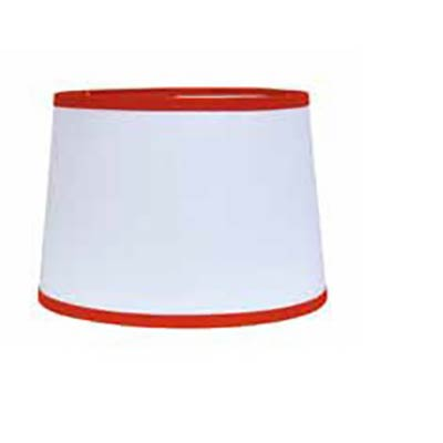 10 inch white drum lamp shade with orange trim by raghu. Black Bedroom Furniture Sets. Home Design Ideas