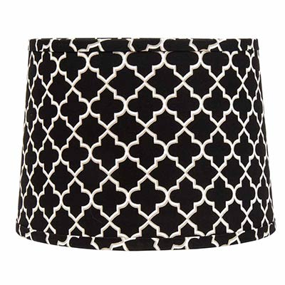 10 inch black quatrefoil drum lamp shade by raghu the. Black Bedroom Furniture Sets. Home Design Ideas