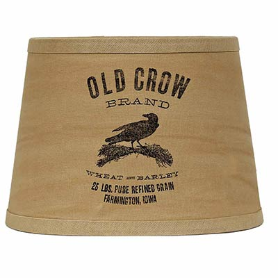 Old Crow Lamp Shade - 10 inch Drum