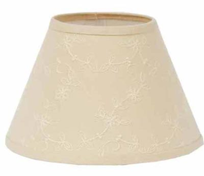 Candlewicking Cream Lamp Shade - 10 inch