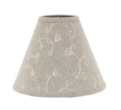 Candlewicking Taupe Lamp Shade - 6 inch